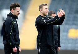 Perry Humphreys of Worcester Warriors and Ryan Lamb of Worcester Warriors in training - Mandatory by-line: Robbie Stephenson/JMP - 28/02/2017 - RUGBY - Sixways Stadium - Worcester, England - Worcester Warriors Training - 28/02/17