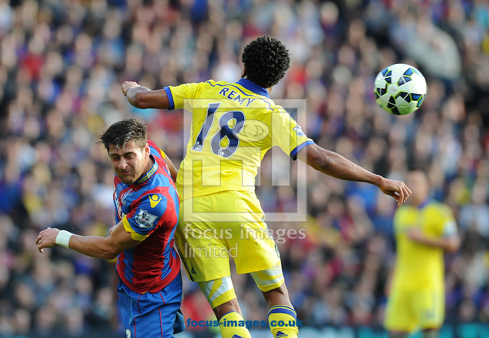 Joel Ward of Crystal Palace  and Loic Remy of Chelsea during the Barclays Premier League match at Selhurst Park, London<br /> Picture by Alan Stanford/Focus Images Ltd +44 7915 056117<br /> 18/10/2014