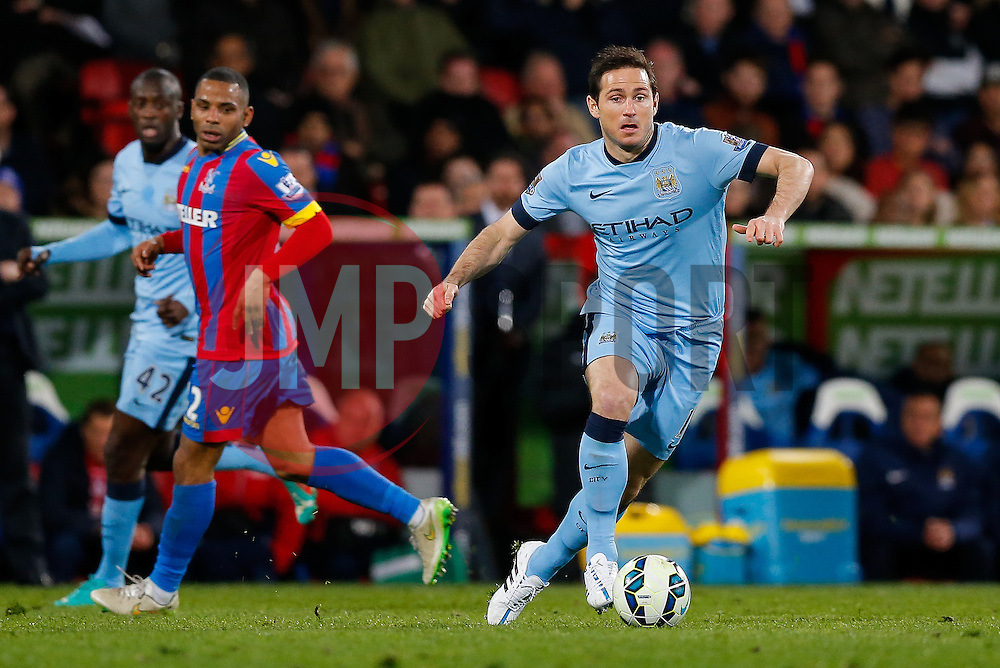 Frank Lampard of Manchester City in action - Photo mandatory by-line: Rogan Thomson/JMP - 07966 386802 - 06/04/2015 - SPORT - FOOTBALL - London, England - Selhurst Park - Crystal Palace v Manchester City - Barclays Premier League.