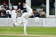Tim Groenewald of Somerset bowling during the third day of the Specsavers County Champ Div 1 match between Somerset County Cricket Club and Yorkshire County Cricket Club at the Cooper Associates County Ground, Taunton, United Kingdom on 29 April 2018. Picture by Graham Hunt.