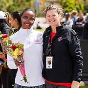 23 March 2018: San Diego State senior Simone Glenn is recognized during a seniors ceremony at  the final day of the 43rd annual Aztec Invitational.<br /> More game action at sdsuaztecphotos.com