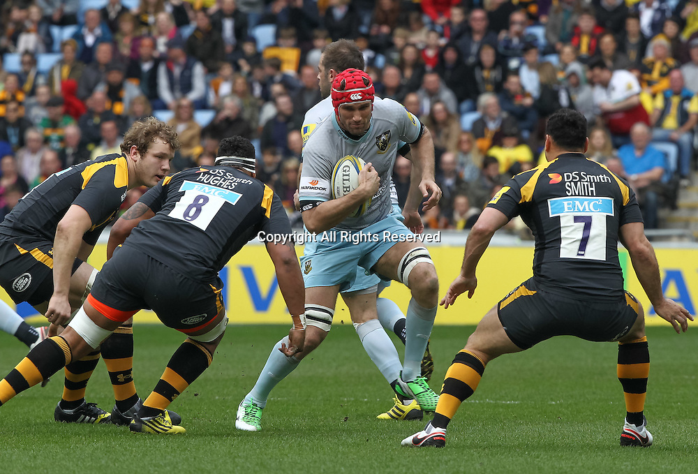 03.04.2016. Ricoh Arena, Coventry, England. Rugby Aviva Premiership. Wasps versus Northampton Saints.   Saints Christian Day in action.