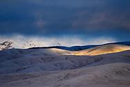 Snow-clad hills of the Tibetan Plateau, Qumalai, Qinghai, China