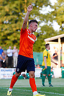 Alex Wall of Luton Town celebrates scoring his team's second goal to make it 0-2 during the Pre Season Friendly match at Top Field, Hitchin<br /> Picture by David Horn/Focus Images Ltd +44 7545 970036<br /> 17/07/2014