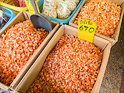 05 OCTOBER 2012 - BANGKOK, THAILAND:   Dried shrimp for sale in the Chinatown section of Bangkok, Thailand.     PHOTO BY JACK KURTZ