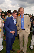 Oliver Tobias and Mike Rutherford, Veuve Clicquot gold Cup, Polo at Cowdray, 18 July 2004. SUPPLIED FOR ONE-TIME USE ONLY> DO NOT ARCHIVE. © Copyright Photograph by Dafydd Jones 66 Stockwell Park Rd. London SW9 0DA Tel 020 7733 0108 www.dafjones.com