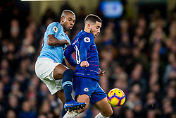 December 8, 2018 - London, Greater London, England - Fernandinho of Manchester City and Eden Hazard of Chelsea during the Premier League match between Chelsea and Manchester City at Stamford Bridge, London, England on 8 December 2018. (Credit Image: © AFP7 via ZUMA Wire)