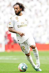 Real Madrid's Marcelo Vieira during La Liga Real Madrid v Levante UD football match at Santiago-Bernabeu stadium on September 14, 2019 in Madrid, Spain. Real won 3-2. Photo by Acero/AlterPhotos/ABACAPRESS.COM
