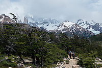Hikers in FiztRoy National Park, Argentina
