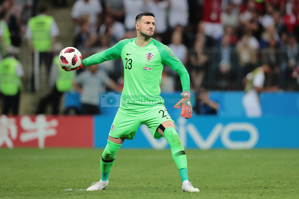 July 11, 2018 - Moscow, U.S. - MOSCOW, RUSSIA - JULY 11: Goalkeeper Danijel Subasic of Croatia National team during the semifinal match between Croatia and England at the FIFA World Cup on July 11, 2018 at the Luzhniki Stadium  in Moscow, Russia. (Photo by Anatoliy Medved/Icon Sportswire) (Credit Image: © Anatoliy Medved/Icon SMI via ZUMA Press)