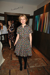 SAHAR HASHEMI at a party to celebrate the publication of Lisa B's book 'Lifestyle Essentials' held at the Cook Book Cafe, Intercontinental Hotel, Park Lane London on 10th April 2008.<br />