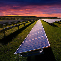 Solar Farm, Blackwater, Newport, Isle of Wight, England, UK,