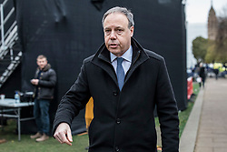 © Licensed to London News Pictures. 16/01/2019. London, UK. Leader of the DUP in the Houses of Parliament Nigel Dodds in Westminster this morning. Prime Minister Theresa May has lost the parliamentary vote on her proposed Brexit deal. Photo credit: Rob Pinney/LNP