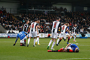 Rangers players putting their bodies on the line during the Ladbrokes Scottish Premiership match between St Mirren and Rangers at the Simple Digital Arena, Paisley, Scotland on 3 November 2018.