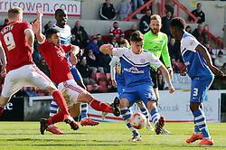 Peterborough United's Joe Newell in action with Swindon Town's Massimo Luongo - Photo mandatory by-line: Joe Dent/JMP - Mobile: 07966 386802 - 11/04/2015 - SPORT - Football - Swindon - County Ground - Swindon Town v Peterborough United - Sky Bet League One