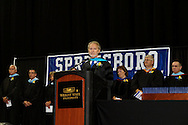 Principal Dr. Ron Malone speaks during the 119th annual Springboro High School commencement at the Nutter Center in Fairborn, Saturday, June 2, 2012.
