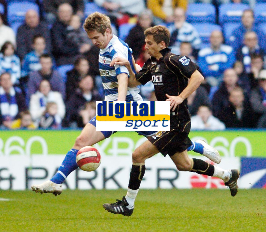 Photo: Leigh Quinnell.<br /> Reading v Portsmouth. The Barclays Premiership. 17/03/2007. Readings Kevin Doyle gets the ball away from Portsmouths Gary O'Neil.
