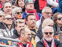 26.01.2020, Streif, Kitzbühel, AUT, FIS Weltcup Ski Alpin, Slalom, Herren, im Bild Arnold Schwarzenegger // Arnold Schwarzenegger during the men's Slalom of FIS Ski Alpine World Cup at the Streif in Kitzbühel, Austria on 2020/01/26. EXPA Pictures © 2020, PhotoCredit: EXPA/ Stefan Adelsberger