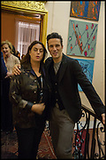 MAJA HOFFMANN; ANDREAS SIEGFRIED, James Franco talk and supper at Mansfield St. hosted by Maja Hoffmann. London. 23 November 2014