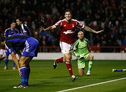 Nottingham Forest's Darius Henderson celebrates his goal - Photo mandatory by-line: Matt Bunn/JMP - Tel: Mobile: 07966 386802 17/09/2013 - SPORT - FOOTBALL - The City Ground - Nottingham - Nottingham Forest V Middlesborough - Sky Bet Championship