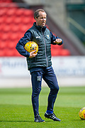 Alec Cleland, assistant manager of St Johnstone FC watches his players warm up before the Ladbrokes Scottish Premiership match between St Johnstone and Motherwell at McDiarmid Stadium, Perth, Scotland on 11 May 2019.