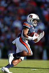 Auburn Tigers running back Shaun Shivers (8) during the Alabama Crimson Tide at Auburn Tigers college football game in Auburn, Alabama, November 30, 2019. Auburn won 48-45. Paul Abell/Athlon Sports