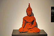 Buddha Statue from Lego building blocks at the Holon Children's museum. Holon, Israel