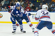 Marlies forward Josh Leivo shoots on goal during a game against the Rochester Americans in Rochester, New York, USA on Friday, December 4, 2015.