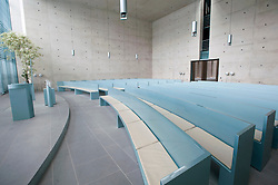Modern crematorium at Baumschulenweg cemetery in Treptow  Berlin Germany; Architect Axel Schultes
