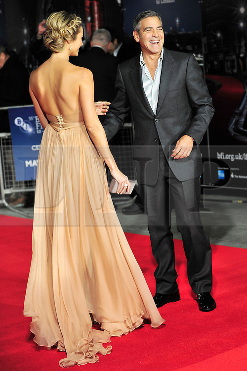© Licensed to London News Pictures. 20/10/2011. London,England. George Clooney and Stacy Keibler attend the UK Premiere of The Descendants at the 55th British Film Festival in London  Photo credit : ALAN ROXBOROUGH/LNP