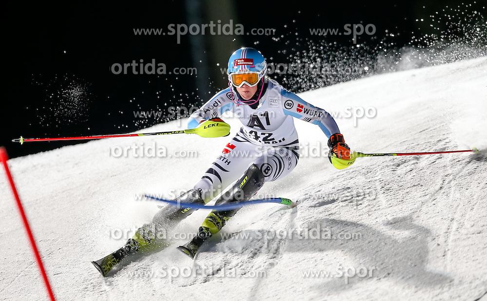 13.01.2015, Hermann Maier Weltcupstrecke, Flachau, AUT, FIS Weltcup Ski Alpin, Flachau, Slalom, Damen, 1. Lauf, im Bild Maren Wiesler (GER) // Maren Wiesler of Germany in action during 1st run of the ladie's Slalom of the FIS Ski Alpine World Cup at the Hermann Maier Weltcupstrecke in Flachau, Austria on 2015/01/13. EXPA Pictures © 2015, PhotoCredit: EXPA/ Johann Groder