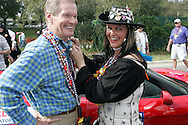 2007 Gasparilla Parade in Tampa, Florida, from the inside with the all female Krewe of Charlotte de Berry.  U.S. Senator Bill Nelson gets pinned by pirate Tracy Howard.
