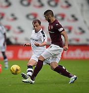 Dundee&rsquo;s Paul McGowan and Hearts&rsquo; Igor Rossi - Hearts v Dundee, Ladbrokes Scottish Premiership at Tynecastle, Edinburgh. Photo: David Young<br /> <br />  - &copy; David Young - www.davidyoungphoto.co.uk - email: davidyoungphoto@gmail.com