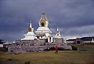 Mongolia. Erdeni Zuu in Hahorin. buddhist temple,    /  temple bouddhiste de Erdene Zuu Karakorum - Mongolie
