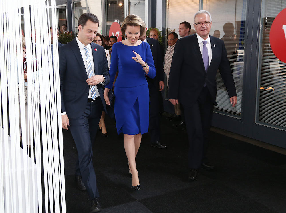 20150603- Brussels - Belgium - 03 June2015 - European Development Days - EDD  - Alexander De Croo Queen Mathilde of Belgium, Sven Mimica Belgian Federal Minister and  , European Commissioner DG Development  at the EDD during the Right to quality education seminar © EU/UE