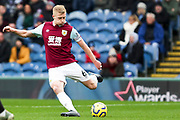Burnley defender Ben Mee during the Premier League match between Burnley and Leicester City at Turf Moor, Burnley, England on 19 January 2020.