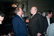 GRAYDON CARTER; CLAUS VON BULOW, Graydon and Anna Carter host a lunch for Carolina Herrera to celebrate the ipening of her new shop on Mount St. .The Connaught. London. 20 January 2010