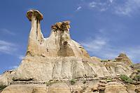 Badlands hoodoos, Makoshika State Park Montana