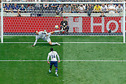 Tottenham Hotspur midfielder Georges-Kevin Nkoudou (14) scores his penalty, penalty shootout, during the Pre-Season Friendly match between Tottenham Hotspur and Inter Milan at Tottenham Hotspur Stadium, London, United Kingdom on 4 August 2019.