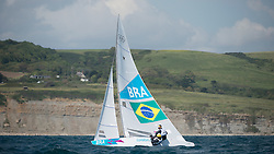 2012 Olympic Games London / Weymouth<br /> <br /> Star practice race<br /> StarBRAScheidt Robert, Prada Bruno