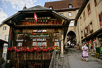 Le Chalet Cafe and marketplace Gruyere, Switzerland.
