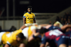 Levi Davis of Bath Rugby watches a scrum - Mandatory byline: Patrick Khachfe/JMP - 07966 386802 - 18/10/2019 - RUGBY UNION - Ashton Gate Stadium - Bristol, England - Bristol Bears v Bath Rugby - Gallagher Premiership