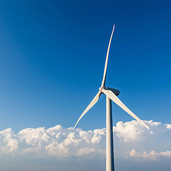 Wind turbine on Mars Hill as seen from the International Appalachian Trail in Mars, Hill, Maine.