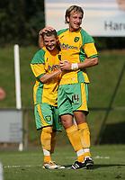 Photo: Maarten Straetemans.<br /> AGOVV Apeldoorn v Norwich City. Pre Season Friendly. 21/07/2007.<br /> Luke Chadwick (left) and Chris Brown scored for Norwich