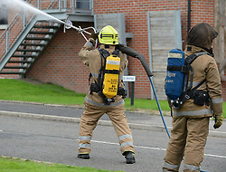 The Scottish Fire &amp; Rescue Service unveiled it's latest weapon in firefighting, an ultra high pressure lance that allows firefighters to put out  fires more quickly using less water, and without having to enter the building. It is part of a &pound;7.6 million GBP investment in 40 new smaller fire appliances that will enter service over the coming months, and will primarily be stationed in rural communities.<br /> <br /> &copy; Dave Johnston/ EEm