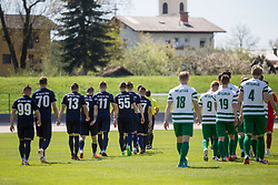 Players during football match between ND Ilirija 1911 and NK Nafta 1903 in Round #24 of 2nd Slovenian football league 2017/18, on April 21, 2018 in Ljubljana, Slovenia. Photo by Urban Urbanc / Sportida