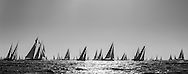 Yachts compete in the JPMorgan Asset Management Round the Island Race. Isle of Wight.<br /> Picture date: Saturday June 27, 2015.<br /> Photograph by Christopher Ison &copy;<br /> 07544044177<br /> chris@christopherison.com<br /> www.christopherison.com