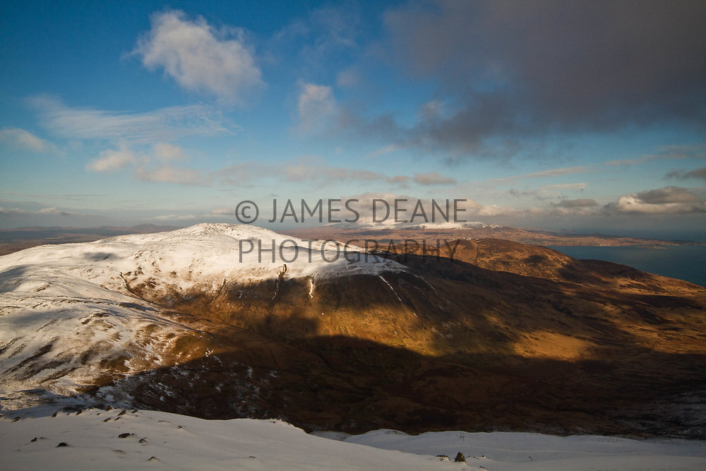 Winter view from the summit of Beinn Bheigier; The highest point on Islay