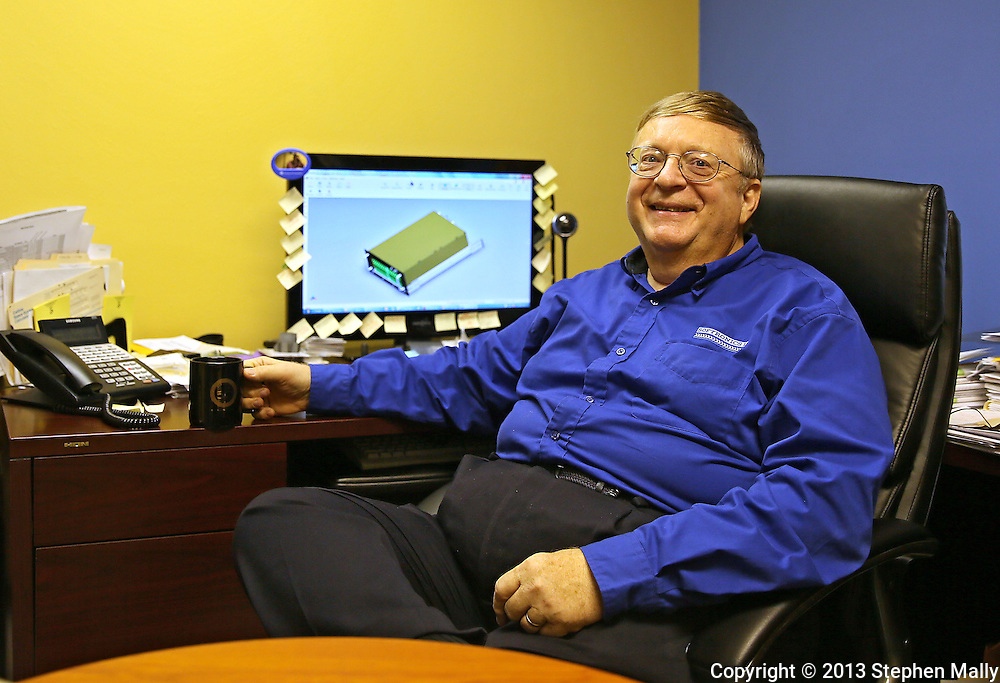 "Robert ""Bob"" Sternowski in his office at Softronics LTD in Marion on Monday, February 11, 2013."