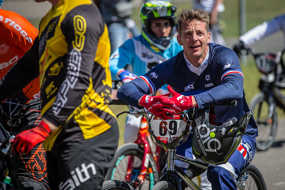 #69 (GODET Damien) FRA at Round 4 of the 2018 UCI BMX Superscross World Cup in Papendal, The Netherlands